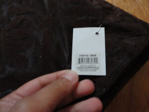 Brand new with tags brown velour net window covering curtain London Ontario image 3