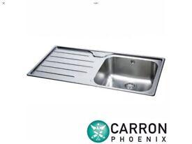 Carron Phoenix ibis 100 Stainless Steel Sink with Waste