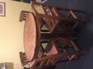 Barn wood bar table set
