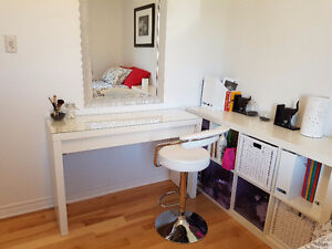 Coiffeuse MALM et chaise blanches PRIX NEGO