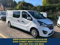 0700be28b8bdd5 2015 65 VAUXHALL VIVARO 1.6 2900 L2H1 CDTI SPORTIVE SIX SEATS DOUBLE CAB ONE
