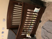 Crib solid wood extremely strong with bed extentions