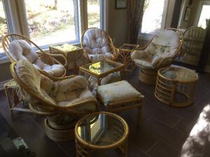 Boca Rattan Wicker Indoor/Outdoor Furniture sets