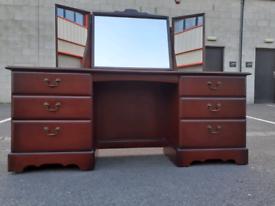 Mahogany Dressing Table with Mirror