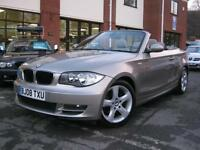 2008 08-Reg BMW 120 d SE Convertible,GEN 50,000 MILES,FULL BEGE LEATHER!!!