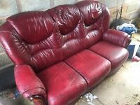 Chesterfield leather sofa 3 piece