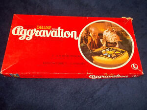 "Vintage ""Deluxe Aggravation"" board game-1977"