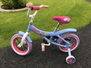 Kids Dora bike with training wheels