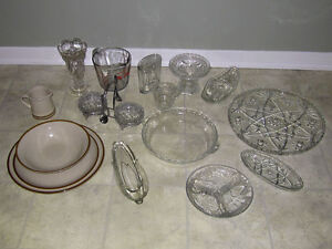 Lot of kitchenware and bar glasses