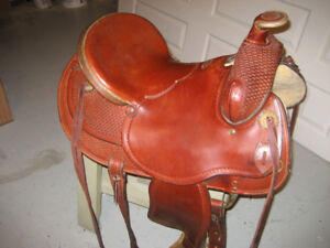 Western Saddle with Headstall, Breastplate