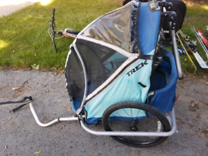 Trek bike double trailer