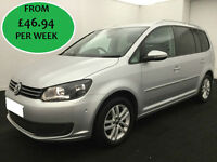 £201.85 PER MONTH Volkswagen Touran 1.6TDI DSG 2012 SE MPV 5 DOORS 7 SEATS