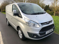 2015 15 FORD TRANSIT CUSTOM LIMITED 2.2TDCI 125BHP 270 L1 H1 ANY UK DELIVERY