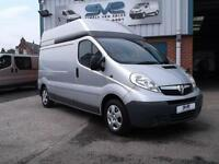 58REG VAUXHALL VIVARO LWB HIGH ROOF 2.0 CDTI IN SILVER WITH AIR CON AND NO VAT!!