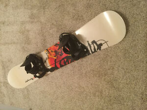 Snowboard package with bindings, boots and bag