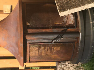 Old used fire pit
