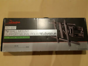 "Rocketfish 40""-65"" full motion tv wall mount (brand new) $80"