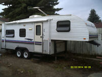 1997 travel holiday trailer air cond 5th wh 21 ft elec crank