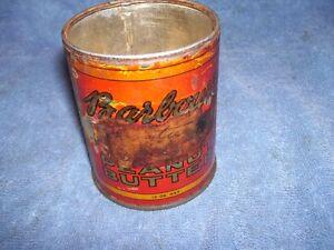 1930's Barbour's Peanut Butter Tin Saint John NB  12 oz RARE