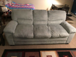 Green Suede Couch for Sale