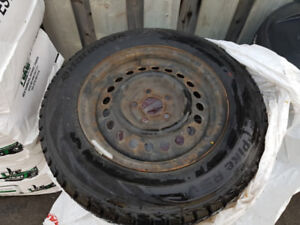 185/70/14 Hankook Pike RSV Snow Tires & Rims