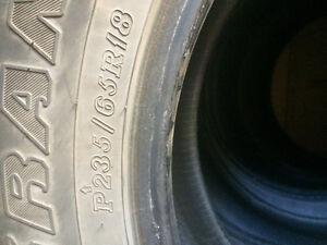 18 in winter studless tires for sale(must go asap)