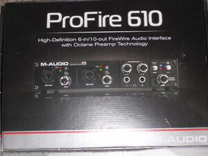 M Audio Profire 610 Firewire Audio Interface Belleville Belleville Area image 2