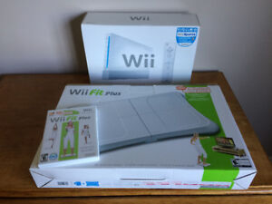 Nintendo Wii Sport and Wii Fit