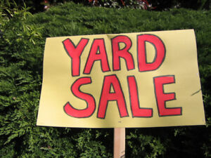 Yard Sale May 26 weather permitted