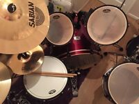 Pearl EX drum kit with Sabian Xs 20 cymbals