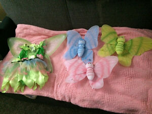 Fairy costume & wall hangings