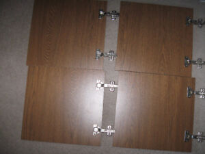 "Global Hutch Doors-Maple/Woodgrain Color-16' x15""-New + tray-$5"