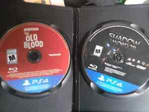 Wolfenstein the old blood and shadow of mordor for ps4