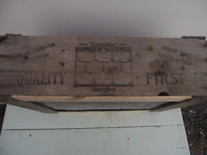 Antique Steel Roofing Shingle and Packing Crate Kingston Kingston Area image 2