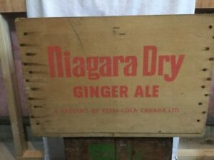 WANTED / WANTED - Red Lettered Niagara Dry Crate ..$$$ Paid