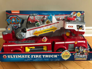 PAW Patrol Ultimate Rescue Fire Truck w/ Extendable 2 Ft. ladder