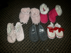 Slippers and shoes 3-6 month size