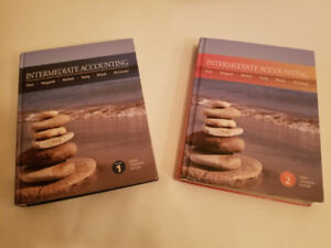 Intermediate Accounting Volume 1 and 2 Textbooks - $60