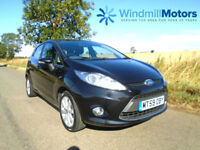 FORD FIESTA 1.25 ZETEC 5DR BLACK - IDEAL 1ST CAR - ONE OWNER FROM NEW