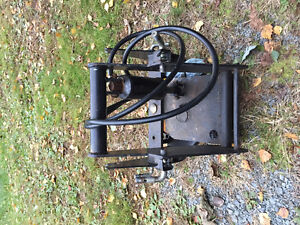 Deere quick hitch and blade