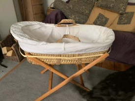 Moses Basket with hood