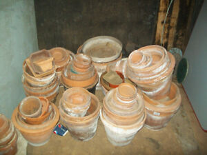 Huge Collection of Clay Pots for sale