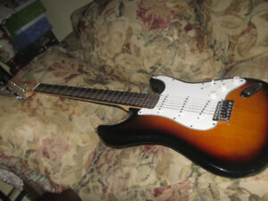Fender Squire Strat. with Fender Mustang1 Amp