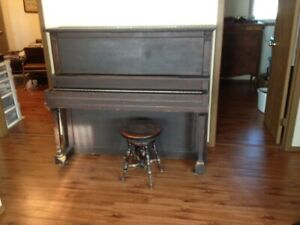 Antique Mozart Piano Company piano and stool - For FREE