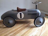 Silver classic ride on children's car