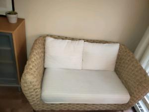 Petit divan en corde tressée parfait pour chambre d'enfant!
