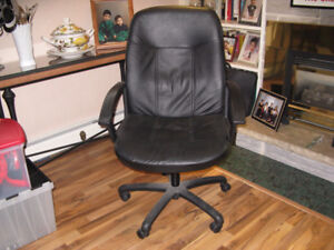 Leather office chairs - deal for the pair