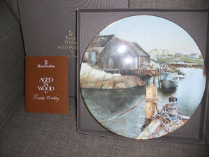"""ROYAL DOULTON """"AGED IN WOOD"""" PLATES BY PEGGY BRISBY"""