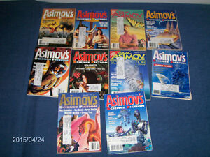 ASIMOV'S SCIENCE FICTION MAGAZINE-10 ISSUES-1990'S-VINTAGE!