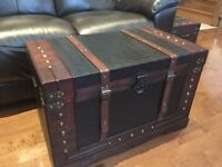Wooden Treasure chests/box/coffee table brand new